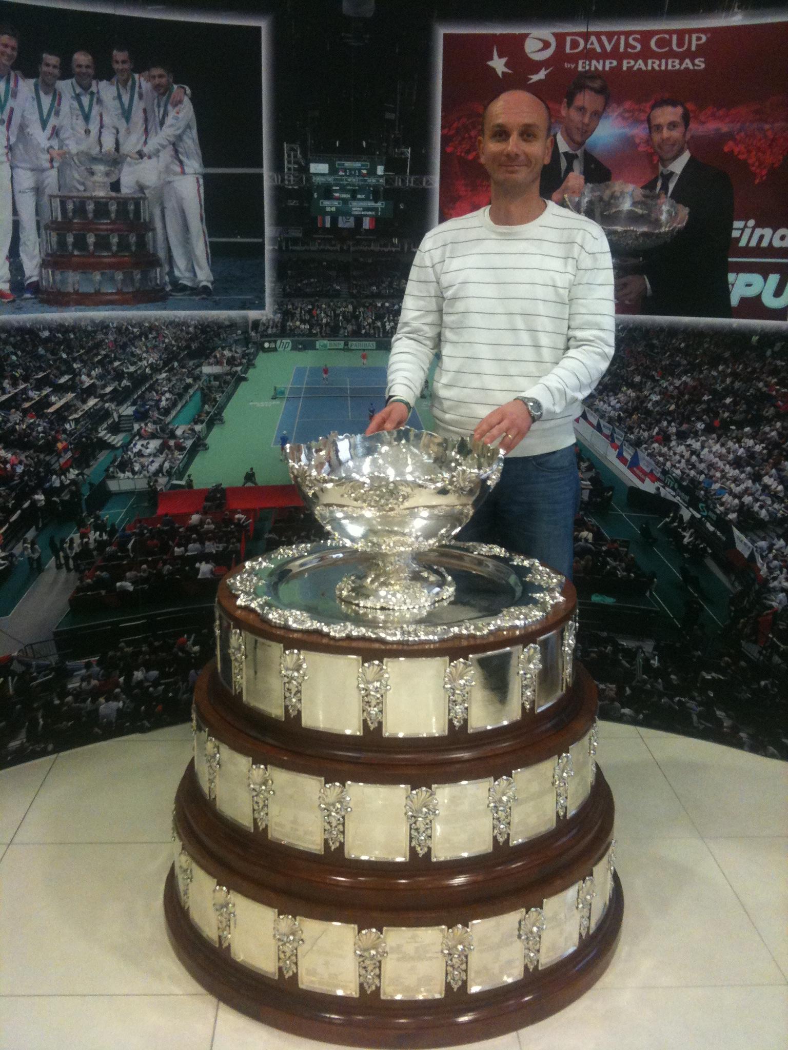 Martin Wirgler s pohárem Davis Cupu