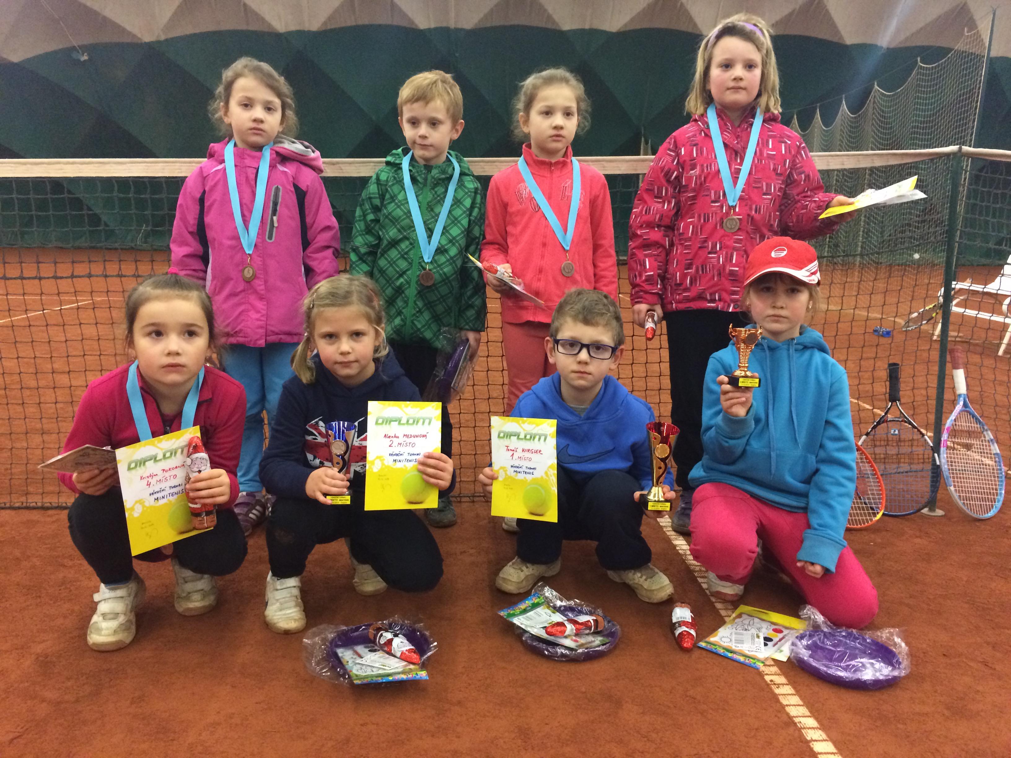 Vánoční turnaj v minitenise TK Znojmo 17.12.2014