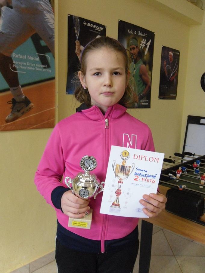 Simonka Wirglerová 2.místo ve dvouhře