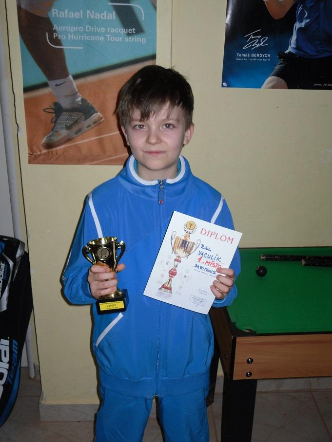 Robin Vaculík vítěz III.turnaje Babytenis Dunlop Serie ve Znojmě 9.2.