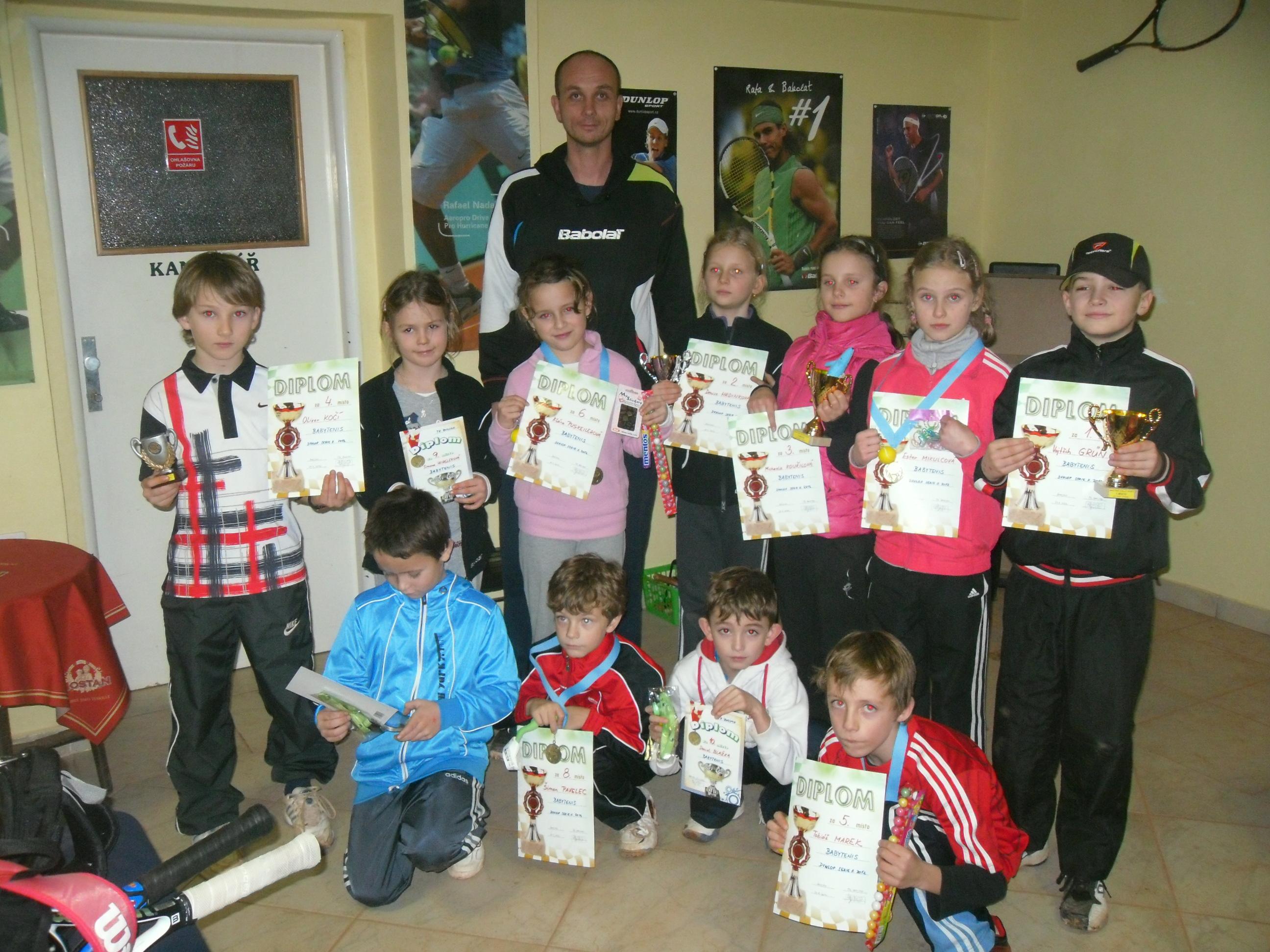 Babytenis. turnaj Dunlop Serie II. 21.1.2012