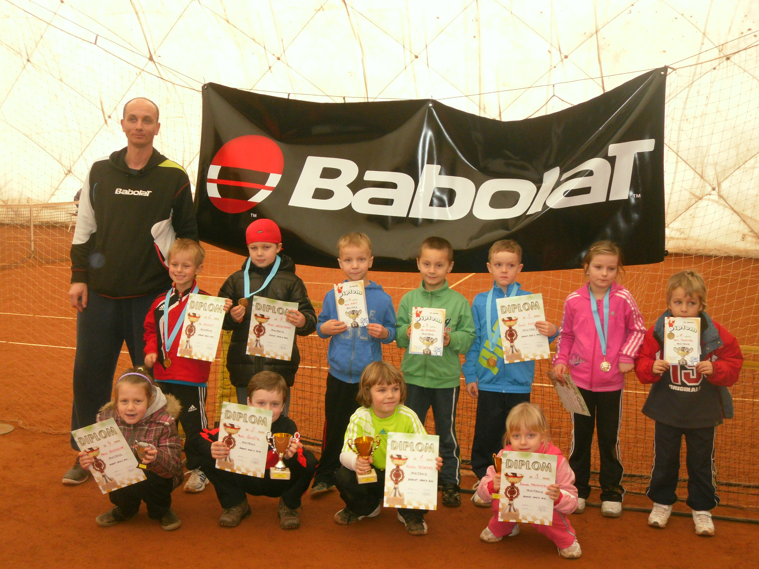 Minitenis. turnaj Babolat Serie II. 22.1.2012