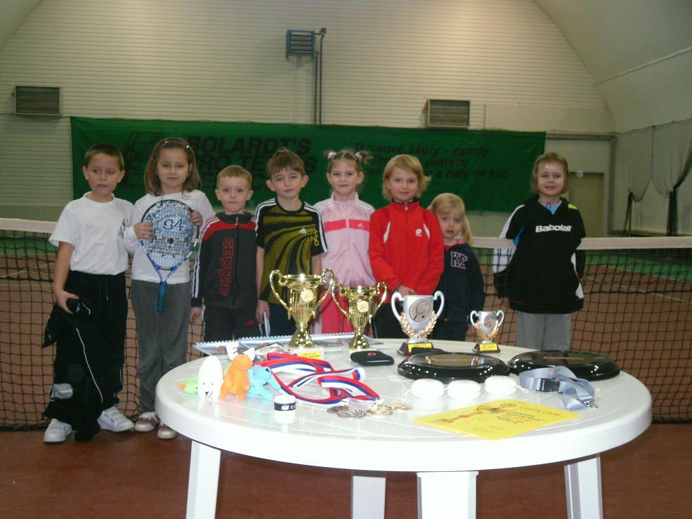 Účastníci minitenis.turnaje 22.1.2011