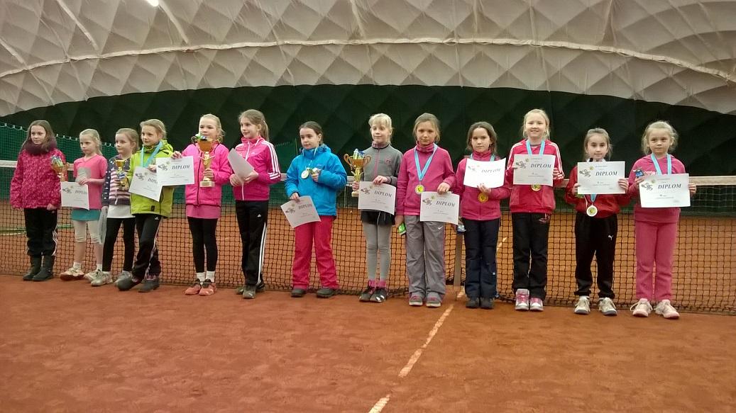 Účastnice turnaje v babytenise v Tišnově