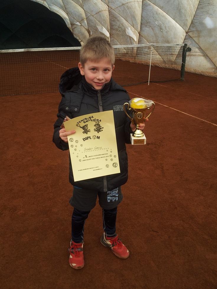 Ondra Grois 1.místo babytenis Bedřichov 21.2.2015