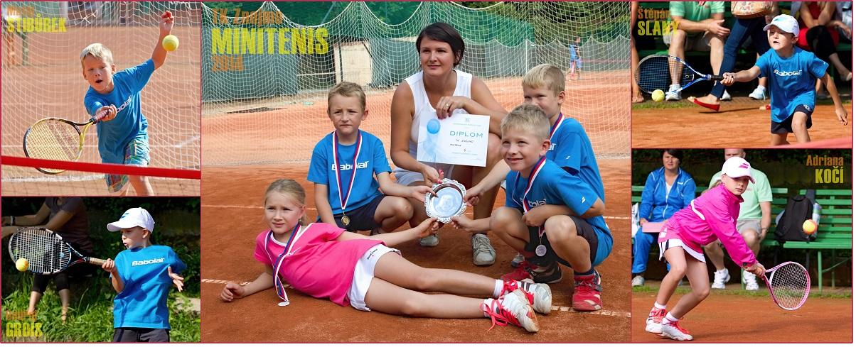 Družstvo minitenisu - Krajské finále JTS 2014