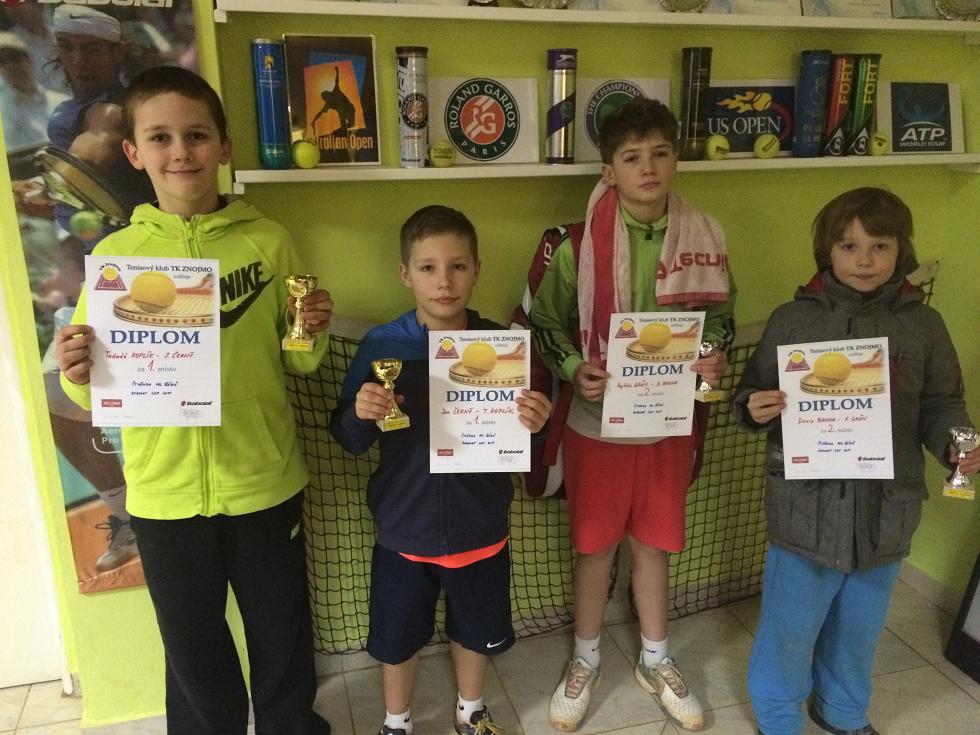 Finalisté čtyřhry ml.žáků