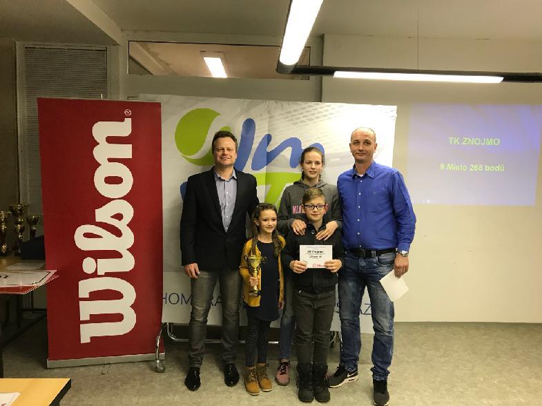 Vyhlášení klubů - Pohár mládeže JmTS 2017