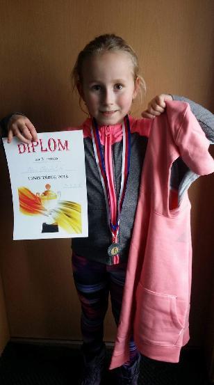 Sára Chocholová bronzová v Táboře 24.3.2018
