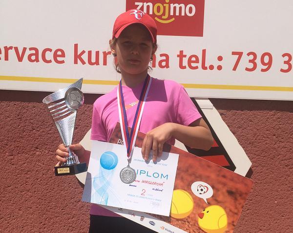 Simča Wirglerová 2.místo ve dvouhře