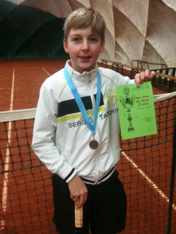 Marek Toman vybojoval 3.místo ve čtyřhře