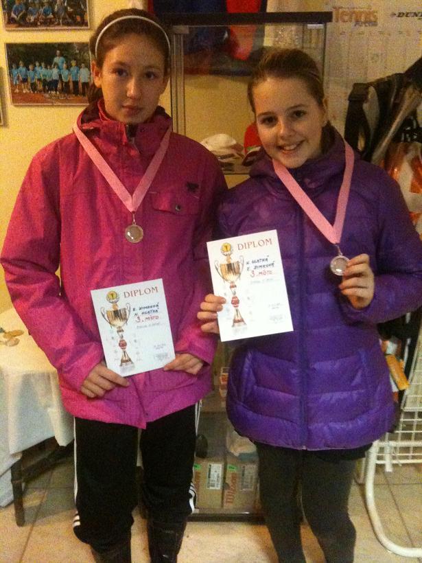 Zimková s Hlatkou vybojovaly 3.místo ve čtyřhře