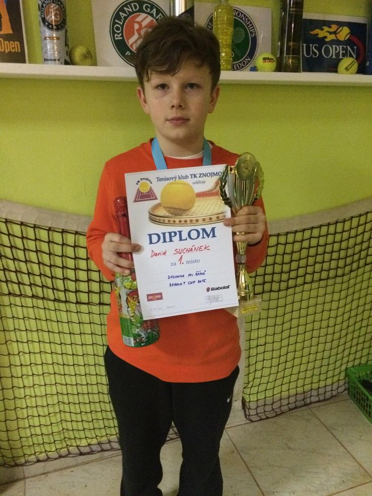 David Suchánek 1.místo dvouhra