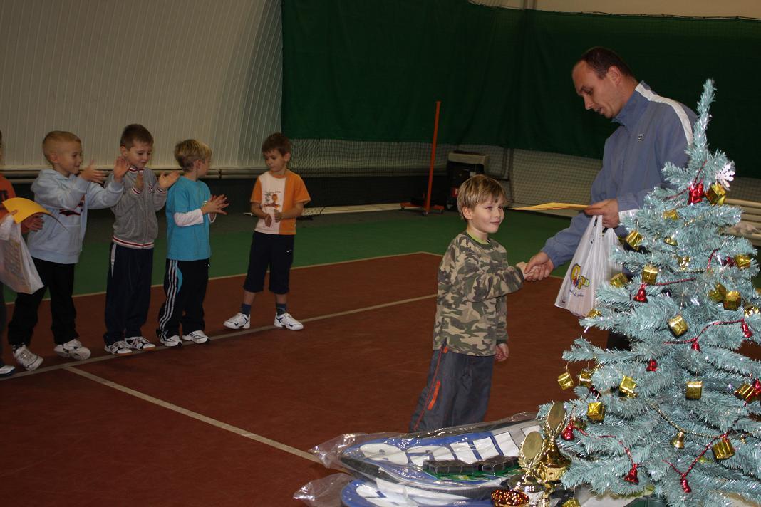 Vánoční turnaj minitenistů 16.12.2008