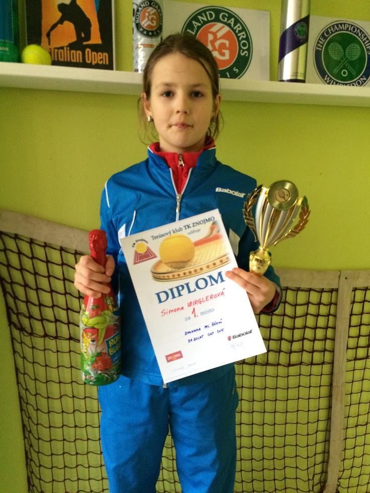 Simča Wirglerová 1.místo dvouhra ml.žákyň