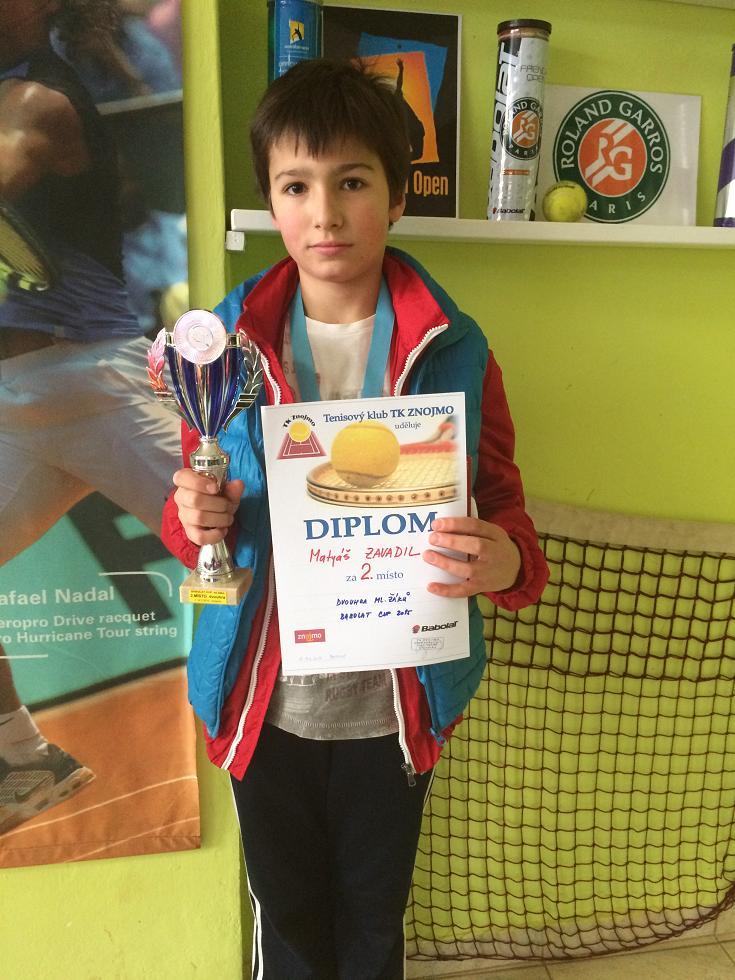 Matyáš Zavadil 2.místo dvouhra